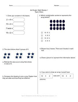 Math Quiz - 3rd Grade - Module 1 Topic A by MsJ | Teachers Pay ...