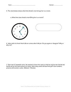 Math Quiz - 3rd Grade - Module 2 Topic A