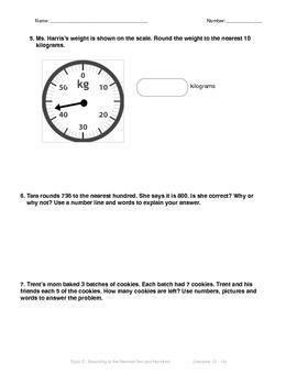 Math Quiz - 3rd Grade - Module 2 Topic C