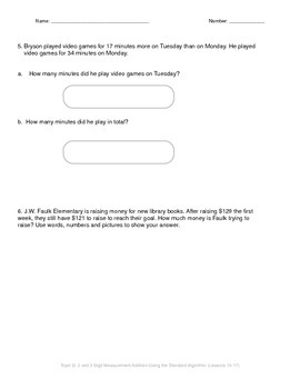 Math Quiz - 3rd Grade - Module 2 Topic D