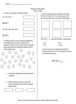 Math Quiz - 3rd Grade - Module 3