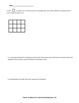 Math Quiz - 3rd Grade - Module 4 Topic A