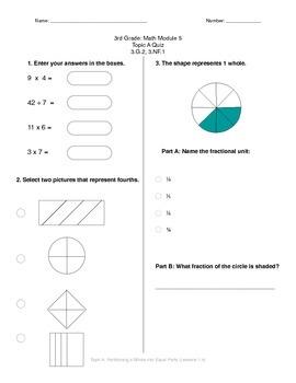 Math Quiz - 3rd Grade - Module 5 Topic A