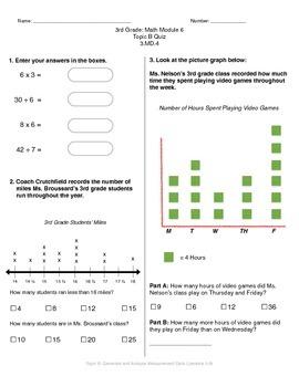 Math Quiz - 3rd Grade - Module 6 Topic B