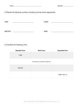 Math Quiz - 4th Grade - Module 1 Topic A