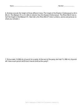 Math Quiz - 4th Grade - Module 2 Topic B
