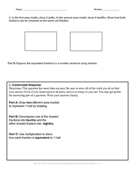 Math Quiz - 4th Grade - Module 5 Topic B