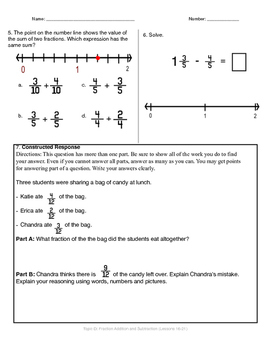Math Quiz - 4th Grade - Module 5 Topic D