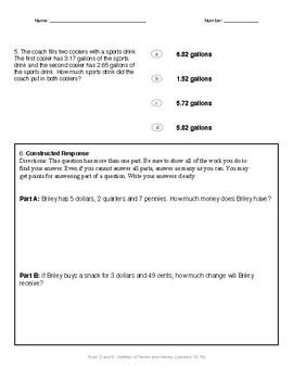Math Quiz - 4th Grade - Module 6 Topic D/E