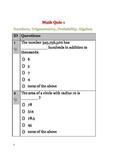 Math Quiz Bundle 4 - Quiz 1 and Quiz 2 - Word Problems,Sequences, Trigonometry