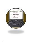 Math Quiz Bundle 5 - Addition, Decimal, Division, Quiz 1, Quiz 2