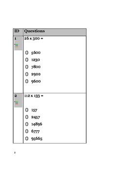 Math Quiz Bundle 8 - Addition, Subtraction, Multiplication, Division, Statistics
