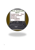 Math Quiz Bundle 9 - Word problems, decimals, probability, statistics