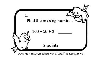 Math Quiz Cards for Board Games - Grades 2 and 3