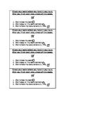 Math Quiz Checklist