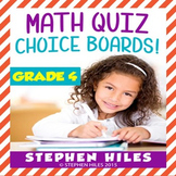 Math Choice Boards Grade 4