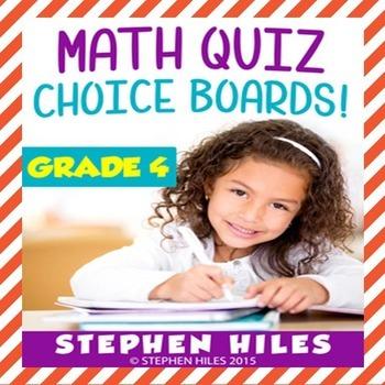 Math Choice Boards Grade 4