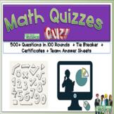 Math Quiz Pack