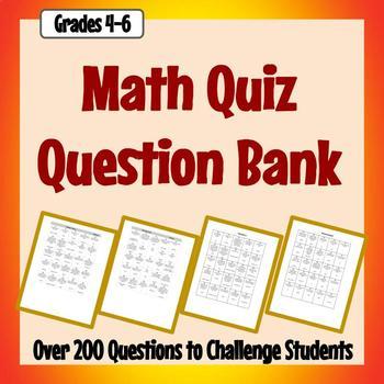 Math Quiz Question Bank