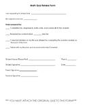 Math Quiz Retake Form - 5 Questions