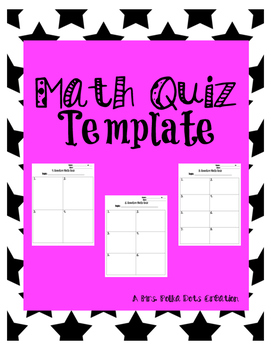 Math Quiz Template