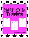 Math Quiz Template