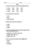 Math Quiz with TEKS