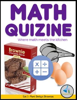 Math Quizine- Recipe Game - Set 1