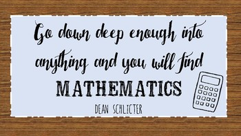 Math Quote: Printable