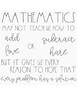 Math Quote Printable