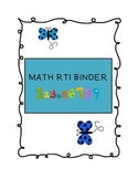 Math RTI Binder Cover Page