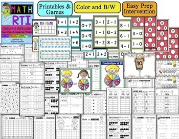 Math RTI / Math Intervention - Addition and Subtraction