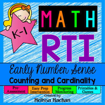 Math RTI / Math Intervention - Early Number Sense - Counting and Cardinality