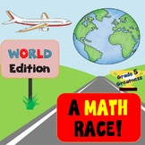 Travel Math Race Decimals and Fractions Activity