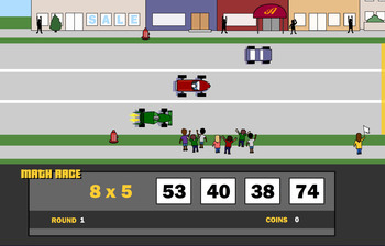 Math Race!  Best Math Tutor ever!