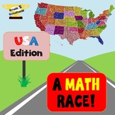 Math Race Across the United States Activity