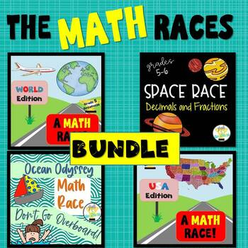 Math Race Review Activity Bundle
