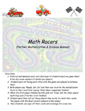 Math Racer Multiplication & Division Fact Games