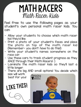 Math Racers: Ones, Twos, & Threes