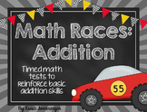 Math Races- Timed Addition Tests