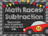 Math Races- Timed Subtraction Tests