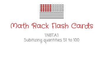 Math Rack Flash Cards