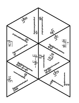 Math - Radical Review Puzzle