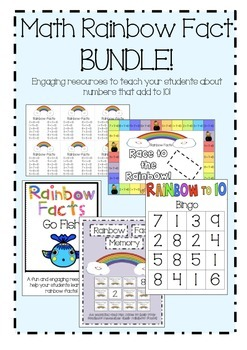 Math Rainbow Fact (Make 10) BUNDLE!