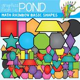 Math Rainbow of Basic 2D Shapes Clipart Set