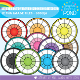 Math Rainbow of Multiplication Wheel Clipart Set