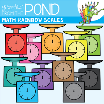 Math Rainbow of Scales Clipart Set