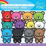 Math Rainbow of Teddy Counters Clipart Set
