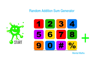 Math. Random Addition Sum Generator.