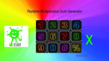 Math. Random Multiplication Sum Generator